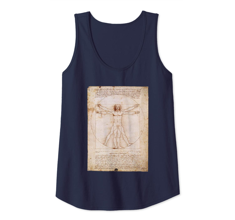 Leonardo Da Vinci Vitruvian Classic Renaissance Artwork Tank Top