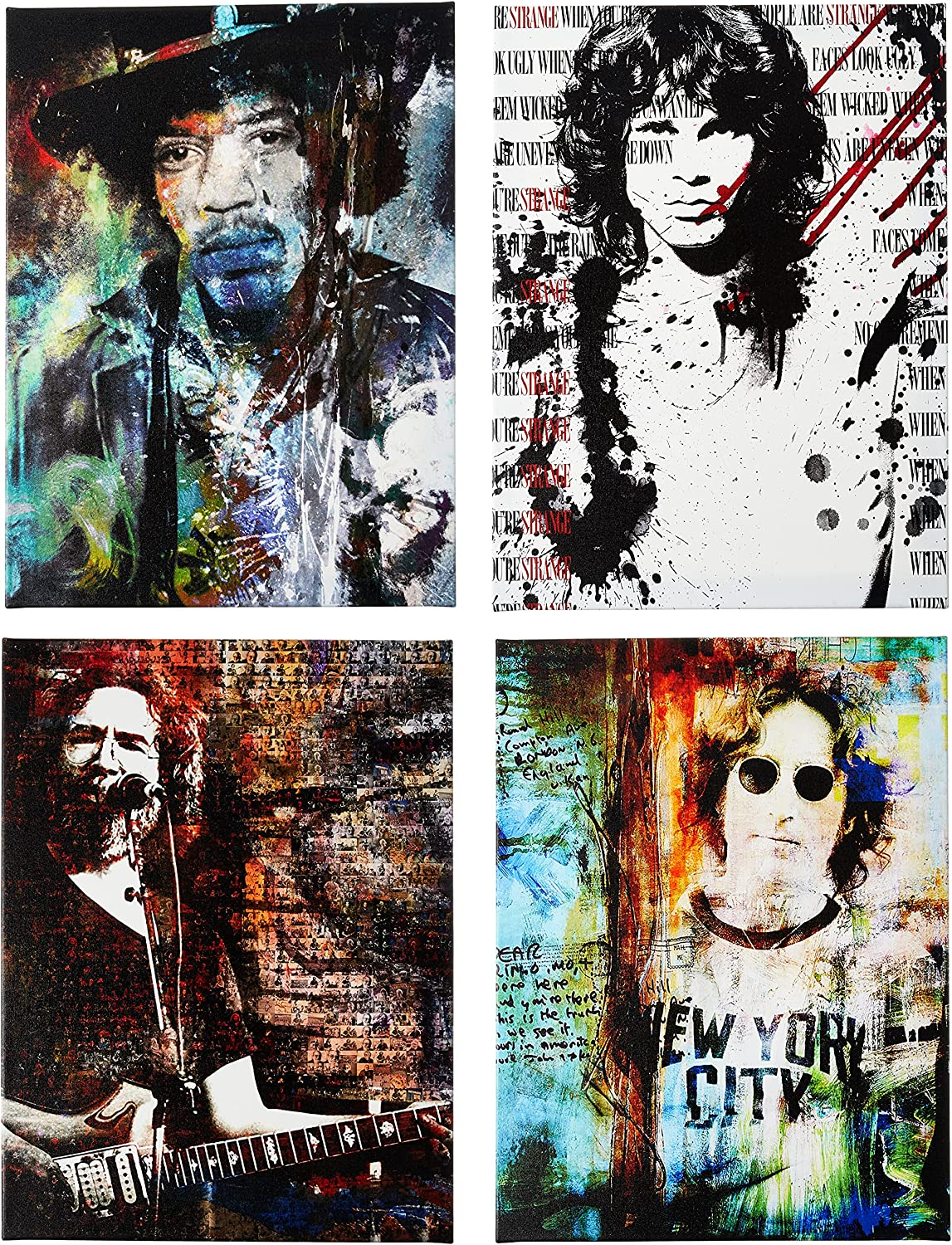 Selling and selling Ready2HangArt Rock Stars 4 Piece Contemporary Modern Beauty products Canvas Wall