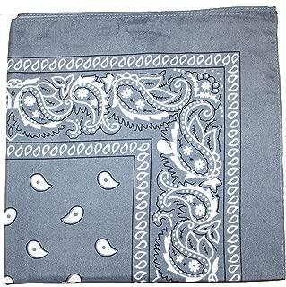 100% Cotton X Large Paisley Double Sided Printed Bandana