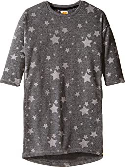 French Terry Cocoon Dress with Star Print (Little Kids/Big Kids)