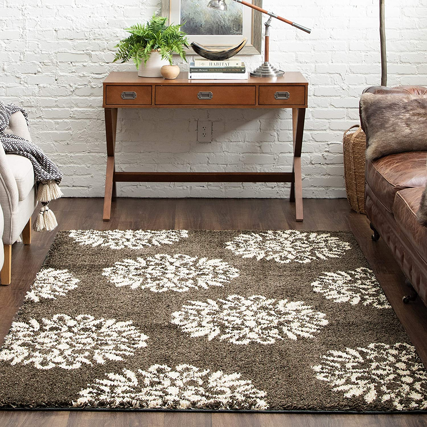 Mohawk Home Exploded Medallions Area Rug, 3'4x5'6, Ash Grey