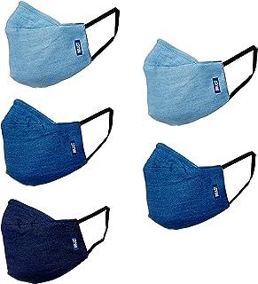 Amazon Brand - Inkast Denim Co. Women's Cotton Reusable Face Mask (IN-WW-P5-Mask4_Multi2_Free Size)