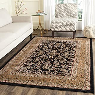 Safavieh Lyndhurst Collection LNH331D Traditional Oriental Black and Tan Area Rug (4' x 6')
