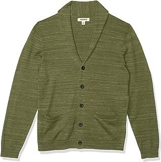 Goodthreads Amazon Brand Men's Soft Cotton Cardigan Summer Sweater, Fatigue, Large