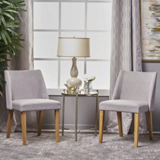 Christopher Knight Home 300892 Radcliffe Fabric Side Chairs (Set of 2) (Light Grey)
