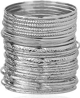 Best plain silver metal bangles Reviews