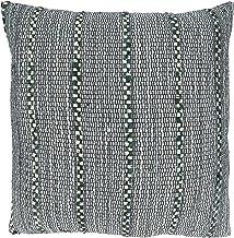 غطاء وسادة قطني مخطط من مجموعة أوكتافيا من سارو لايف ستايل 50.8 سم × 50.8 سم، أزرق