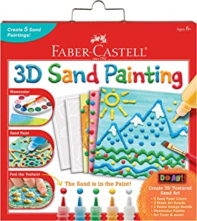 (3D Sand Painting) - Faber-Castell 3D Sand Painting - Textured Sand Art Activity Kit For Kids