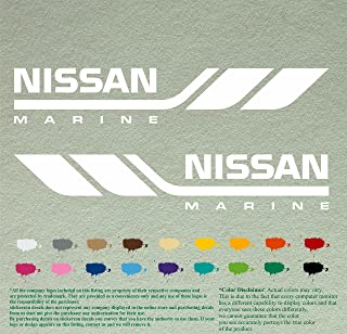 Pair of Nissan Marine V1 Boats Outboards Decals Vinyl Stickers Boat Outboard Motor Lot of 2 (12