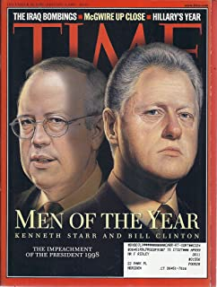 Time Magazine (December 28, 1998/January 4, 1999 - Cover: Kenneth Star & Bill Clinton)