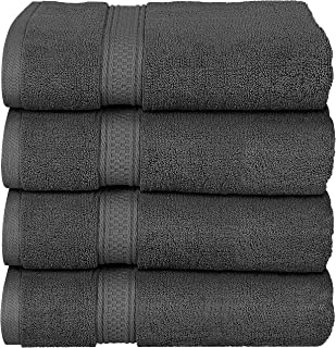 Utopia Towels - Bath Towels Set, Grey - Premium 600 GSM 100% Ring Spun Cotton - Quick Dry, Highly Absorbent, Soft Feel Towels, Perfect for Daily Use (4-Pack)