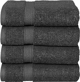Utopia Towels - Lot de 4 Serviettes de Bain en 100% Coton - 69 x 137 cm, 600 GSM (Gris)