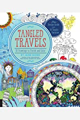 Tangled Travels: 52 Drawings to Finish and Color (Tangled Color and Draw) Paperback