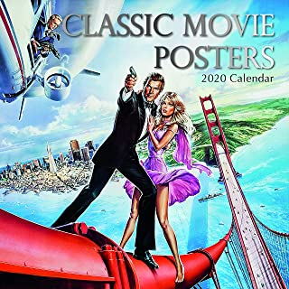2020 Wall Calendar - Classic Movie Posters Calendar, 12 x 12 Inch Monthly View, 16-Month, Movies Theme, Includes 180 Reminder Stickers
