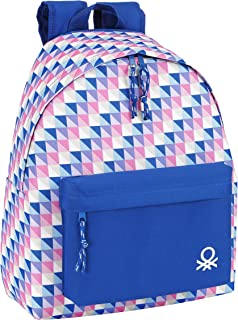 Benetton - Mochila Estampada, 32 x 40 cm, Color Lila (SAFTA 641516774)