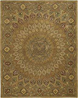 Safavieh Heritage Collection HG914A Handcrafted Traditional Oriental Light Brown and Grey Wool Area Rug (5' x 8')