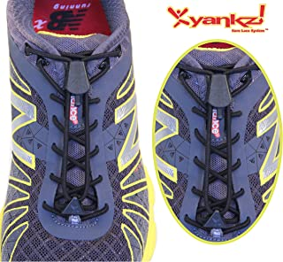 Yankz (Round Elastic Shoe Laces for Sports & Casual Shoes) w/ Black Casings