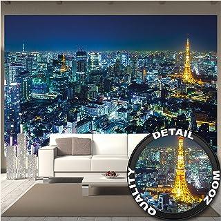 comprar comparacion GREAT ART Mural de Pared – Ciudad de Tokio – Tokyo Horizonte de Noche Metrópolis Tokio Torre Panorama Imagen Japón City Vi...