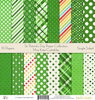 Pattern Paper Pack - St. Patricks Day - Scrapbook Premium Specialty Paper Single-Sided 12