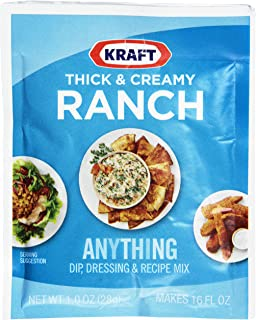 Kraft Ranch Dip, Dressing and Recipe Mix Packet, Thick and Creamy, 1.0 Ounce