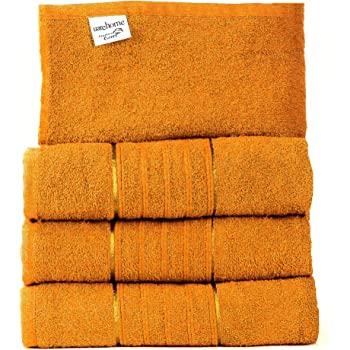MH Distributions LTD - Juego de 4 toallas de algodón egipcio puro para baño, juego de regalo de toallas de jumbo ...