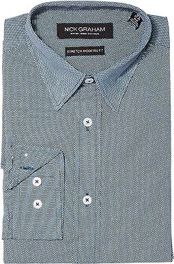 Micro Dot Print Stretch Shirt