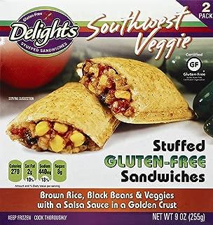 Gluten Free Delights Southwest Veggie Stuffed Sandwich, 9 Ounce (Pack of 6)
