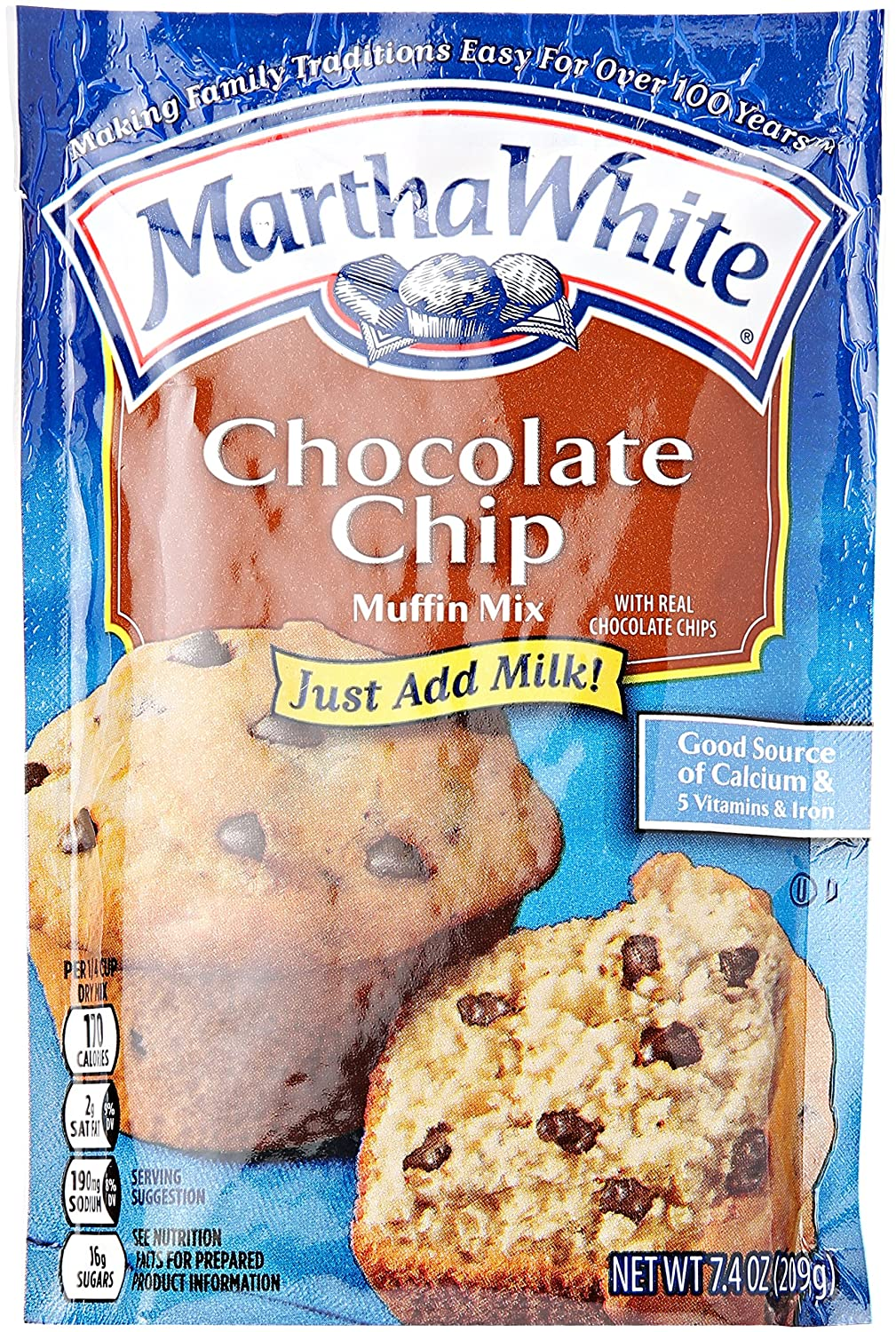 Smuckers Martha White Chocolate Chip 7.4 Muffin Mix Over item handling Surprise price oz