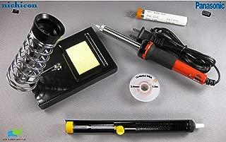 LG 42LC7D-UB LCD TV, PCB P/N's EAX32268301/9, EAX32268301/8, EAY34797001, Complete Repair Kit v2, 20 Capacitors and Soldering Accessories (Soldering Iron and Stand, Solder Sucker, Solder and De-solder Wick)