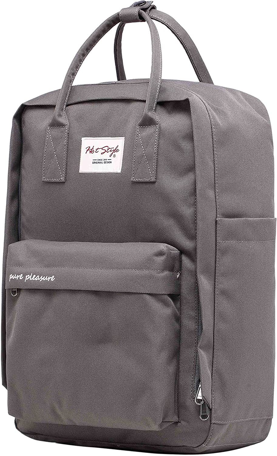 Pure Pleasure College Backpack Travel Handbag   16.5 x11.1 x4.7    Holds 15.6in Laptop