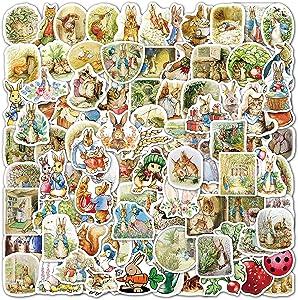 100pcs Rabbit Stickers Cute Anime Cartoon Stickers Waterproof Vinyl Stickers for Kids Teens Adults Laptop Water Bottles