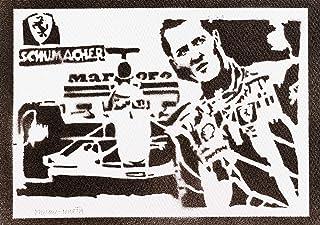 Poster Michael Schumacher F1 Handmade Graffiti Street Art - Artwork