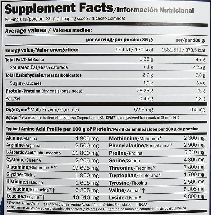Amix - Proteína Whey Pure Fusion, Ayuda a Tonificar y Aumentar la Masa Muscular, Rica en BCCAs y Glutamina, Fácil Digestión, Baja en Grasas, 2,3 Kg, ...