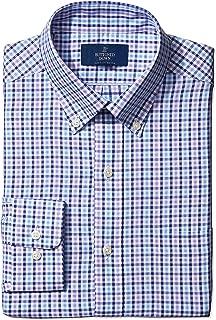 Amazon Brand - BUTTONED DOWN Men's Classic Fit Check Dress Shirt, Supima Cotton Non-Iron