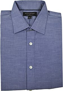 Men's Chambray Classic Fit Non Iron Shirt Chamray Blue Small