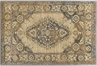 Universal Rugs Fiona Mat Scatter Rug, 2' x 3', Ivory