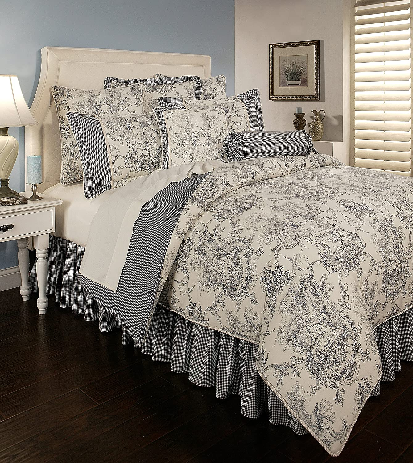 Sherry Kline Country Toile Blue Max 62% OFF 6-Piece Comforter Set Queen Sales of SALE items from new works