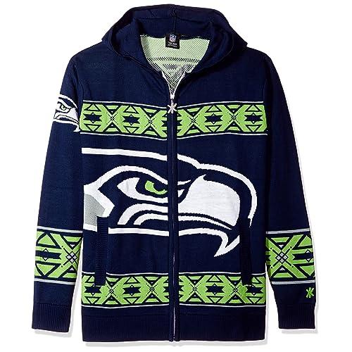 Seattle Seahawks Ugly Christmas Sweater Amazoncom