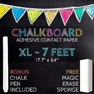 XL Black Chalkboard Contact Paper - 7 FEET (17.7