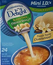 International Delight, Sugar Free, French Vanilla Non Dairy Creamer, 24 Count Creamer Singles (Pack of 3)