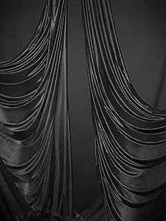 Low Stretch Aerial Silks/Yoga HAMMOCKS Fabric, Sells by The Yard (Black)
