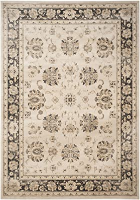 Safavieh Vintage Collection VTG575J Transitional Oriental Ivory and Brown Distressed Area Rug (9' x 12')
