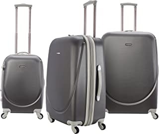 TPRC Barnet Hardside Expandable Spinner Luggage, Silver, 3-Piece Set (20/24/28)