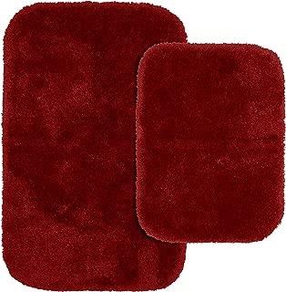 Garland Rug 2-Piece Finest Luxury Ultra Plush Washable Nylon Bathroom Rug Set, Chili Pepper Red