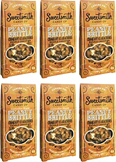 Sweetsmith Candy Co. Maple Peanut Brittle – Handmade, Gluten-Free, Egg-Free, Soy-Free, Vegan and Dairy-Free (Maple, 6 Pack)