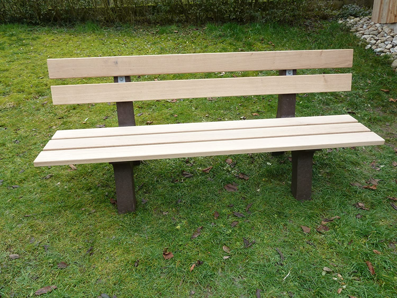 Park Bench Oak Garden Bench Park Bench Garden Furniture Recycled ...