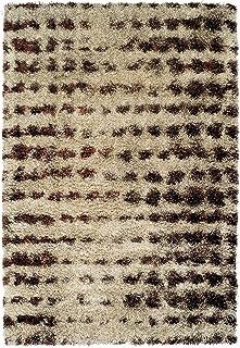 Addison Borealis Plush Abstract Rust/Taupe Shag Area Rug (7'10 x 10'7)