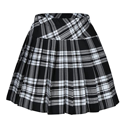 thoughts on clearance cheap price Women's Black Plaid Skirts: Amazon.com