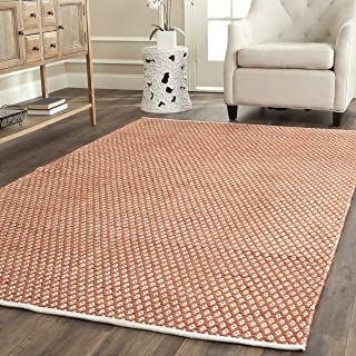 Safavieh Boston Collection BOS685C Handmade Orange Cotton Area Rug (6' x 9')