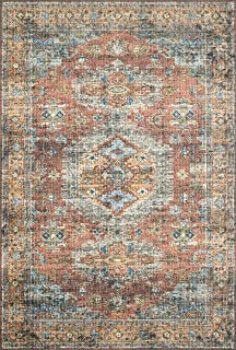 Loloi ll Skye Collection Printed Distressed Vintage Area Rug, 2'-3